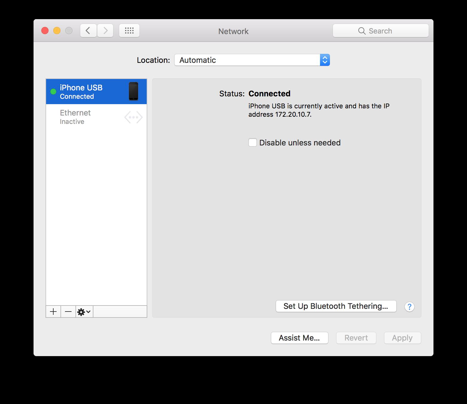 Fixing problems with iPhone USB tethering on macOS - Igor Kulman